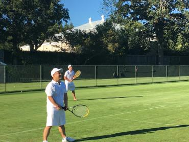 Attorneys Dominic Poncia and Virgilio Ong are one tough doubles team!
