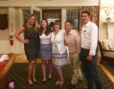 Attorneys Noel Di Carlo, Arielle Mullaney, Maggie Hoyt-Rupert, Virgilio Ong, and Dominic Poncia